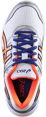 ASICS Gel Galaxy 8 GS - Zapatillas de running para niño weiß/neonorange/blau
