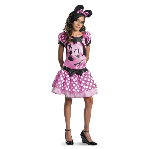 Pink Minnie Mouse Child Costume - (Minnie Mouse Costumes Teens)