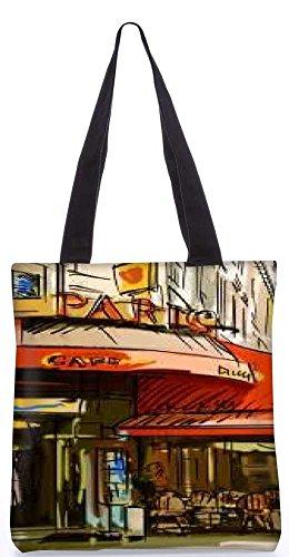 """Snoogg Paris Cade Tragetasche 13,5 X 15 In """"Shopping - Dienstprogramm Tragetasche Aus Polyester Canvas"""
