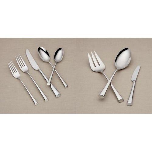 Dansk Dinner Fork - Dansk Bistro Cafe 43 Piece 18/10 Stainless Steel Flatware Set, Service for 8