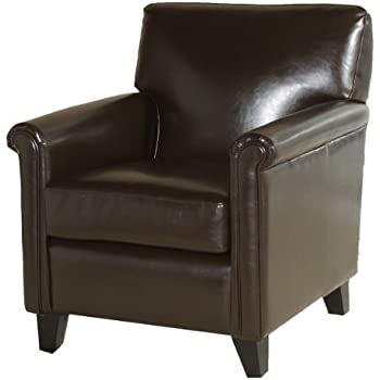 brexley leather club chair recliner in black french chairs for sale this item best classic brown bonded pottery barn