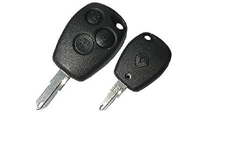 RecambioDirecto - Carcasa llave mando a distancia para Renault con 3 botones