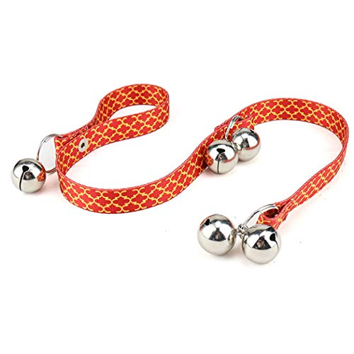 - Pet Doorbell Lanyard Dog Trainer Bell Heat Transfer Flower (Color : Orange)