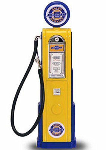 Digital Gas Pump Chevy, Yellow - Yatming 98641 - 1/18 scale diecast model