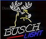 Desung New 20''x16'' Busch Deer Light Neon Sign Man Cave Neon Signs Sports Bar Pub Beer Neon Lights Lamp Glass Neon Light CX12
