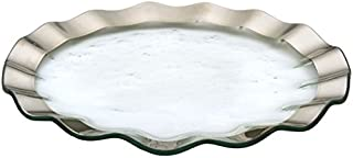 "product image for Annie Glass Roman Antique Platinum Ruffled 13"" buffet Plate (Platter)"