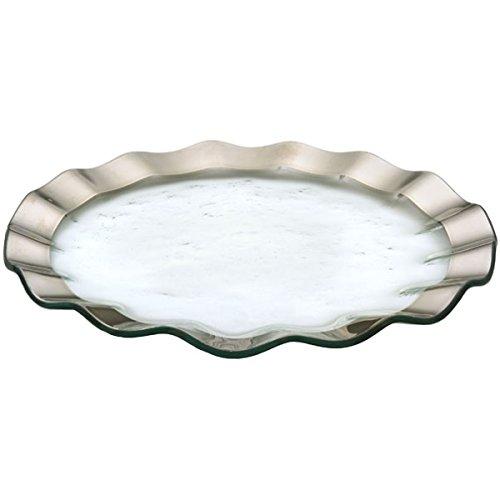 Annie Glass Roman Antique Platinum Ruffled 13