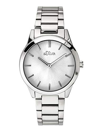 s.Oliver Time Womens Analogue Quartz Watch with Stainless Steel Strap SO-3626-MQ