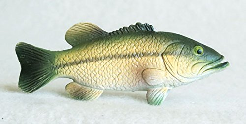 Largemouth Bass Plastic Fish realistic 3 inches long - F3438 (Collectible Plastic)