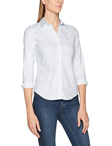 light Azul Gant Shirt Oxford Blue Camisa Banker Para Stretch Mujer q08xqRnH