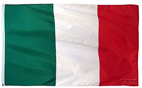 Italian International (G128 Italy Flag Italian Flag Italian Republic Banner Italy National Country Flag 3x5ft Printed Quality Polyester with Brass Grommets Double Stitched)
