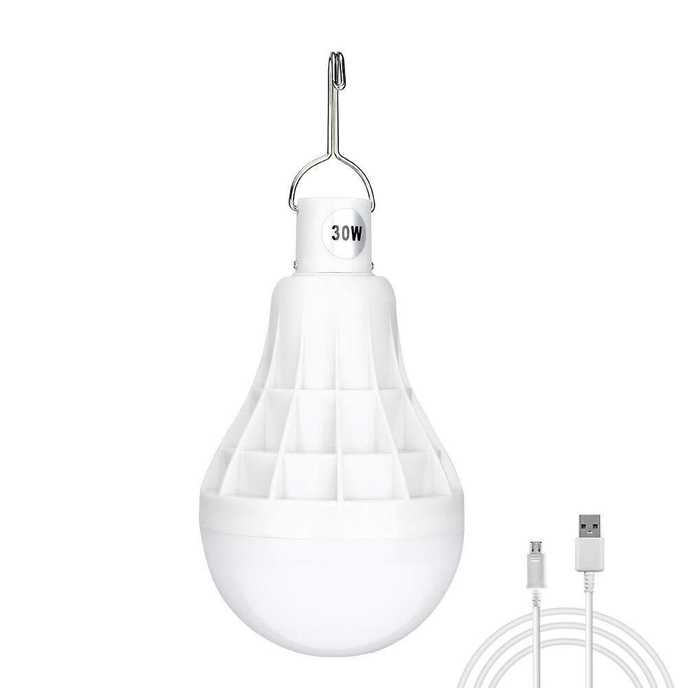 Luces Colgantes port/átiles Recargables de Emergencia para la Pesca de campa/ña al Aire Libre WXGY 30W LED Night Light Bulb