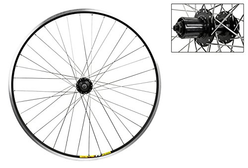Wheel Master 700c Disc Rear Wheel QR, 36H, 8 Speed Cassette, Black MSW