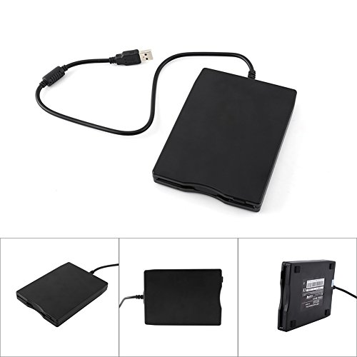 Richer-R USB Floppy Disk, 3.5 inch USB External Floppy Diskette Disk Drive Portable 1.44MB FDD for PC Windows 7/8/98/ME/2000, Windows XP/Mac(Black) by Richer-R (Image #5)