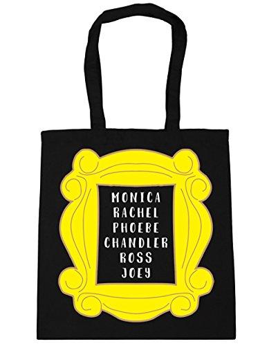 HippoWarehouse Phoebe Rachel Monica Joey Chandler Ross en marco bolsa de la compra bolsa de playa 42cm x38cm, 10litros negro