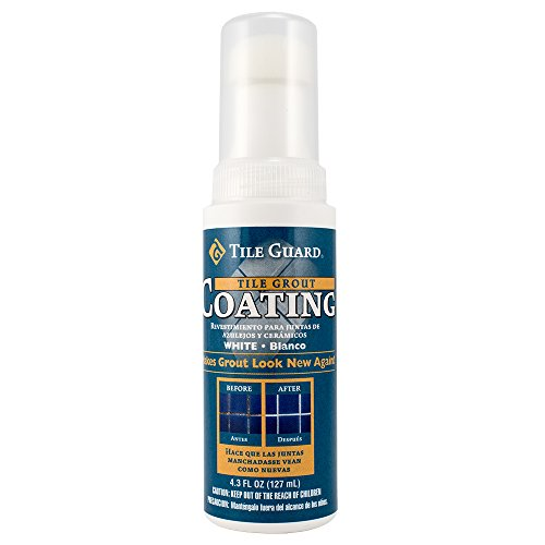 Grout Coating, White, 4.3 oz, Tile Guard Grout -