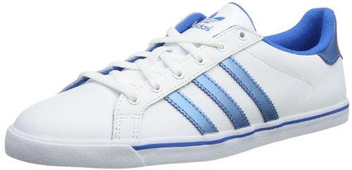 adidas Court Star Slim - Caña baja de cuero mujer blanco - Weiß (Running White/Running White/Columbia Blue)