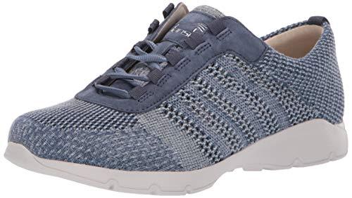 Dansko Women's Adrianne Sneaker, Denim Washed Knit, 38 M EU (7.5-8 US)