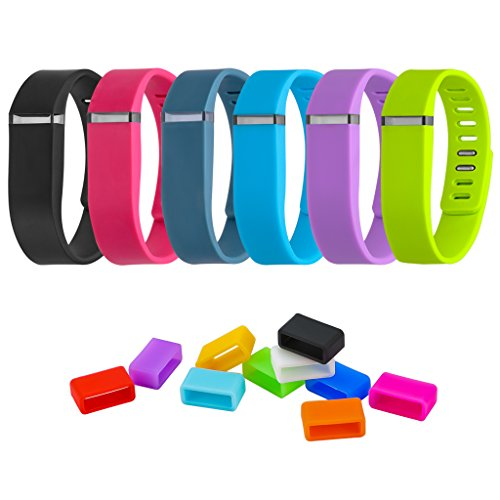 undle includes (6) Mixed-Color Wristband and (10) Mixed-Color Silicon Fastener Ring for Fitbit Flex Wireless Activity + Sleep Wristband (Small) ()