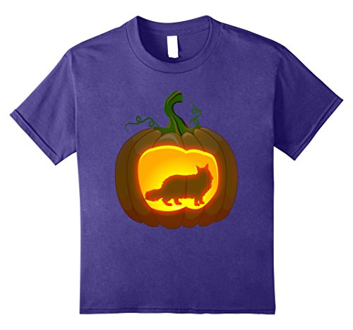 Maine Coon Cat Costume - Kids maine coon cat Halloween shirt 10 Purple