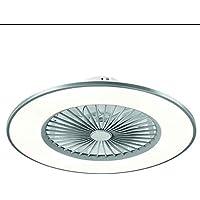 TODOLAMPARA - Ventilador de techo con luz LED 24W modelo BOFU Plata, 3 tonalidades, aspas…