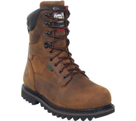 Georgia Boot Work Mens 9'' WP Insulated Goodyear 11.5 D Brown G8162