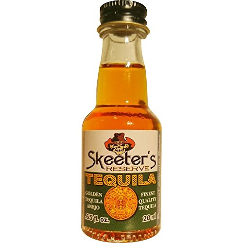Skeeter's Reserve Golden Tequila Premium Essence - Flavor Concentrate For Mixers and Cooking Recipes - Official Reloads For The Outlaw Kit MADE BY American Oak Barrel - 20 ml bottle