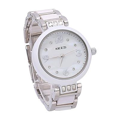 Fashion White Ceramic Quartz Watches For Women Ladies Rhinestone Wristwatch