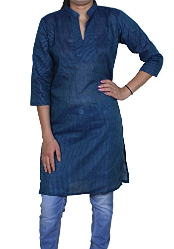 Womens Indian Tunic Top V-neck Casual Short Sleeve T-shirt Blouse Tees -S