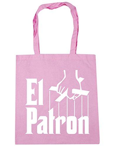 HippoWarehouse el patron Pablo Escobar Tote Compras Bolsa de playa 42cm x38cm, 10litros Classic Pink