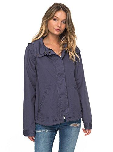 Roxy Womens Roxy Watch The Sunrise - Light Hooded Jacket - Women - S Nightshadow Blue (Roxy Lightweight Shorts)