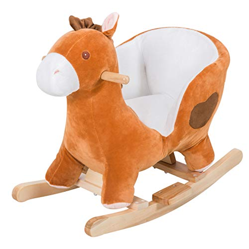 Alek...Shop Toddler Rocking Horse Ride-on Baby Girl Toy Pony Animal Little Cowboy Cowgirl Kids Sturdy Plush Rocker Seat, Gift