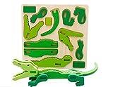 U.D. Let's Make - Children 's Wooden 3D Animal Crocodile