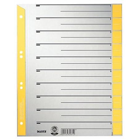 Leitz 16523015 Intercalaire A4 Carton imprim/é jaune Lot de 25 Import Allemagne