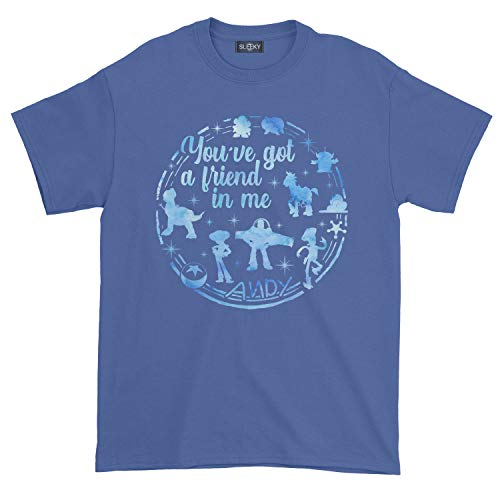 Men's You've Got A Friend in Me Andy Childhood Toy Story T-Shirt (2XL, Royal Blue)