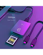 Aluminum CFexpress Card Reader Type B USB 3.1 Gen 2 10Gbps CFexpress Reader Portable CFexpress Type B Memory Card Adapter for CFexpress Type B Card for Android/Windows/Mac OS/Linux