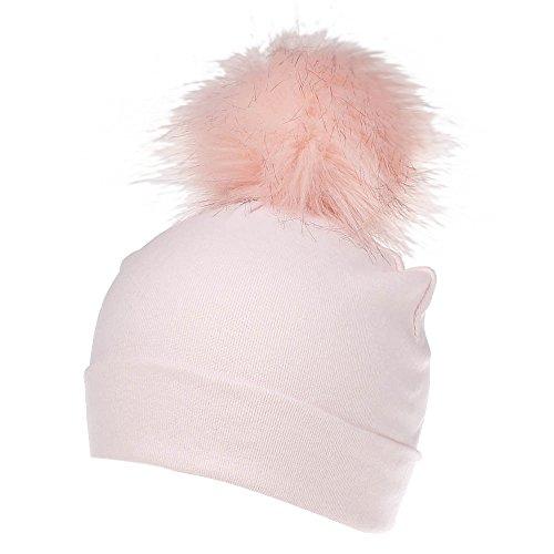 Little Kids Winter Warm Hat,Jchen(TM) Cute Baby Girls Boys Pure Color Toddler Pompoms Cap Headwear Hat (Pink)