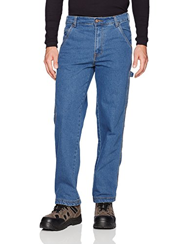 (Smith's Workwear Men's Stretch Relaxed Fit Carpenter Jean, light vintage wash, 32W x 30L)