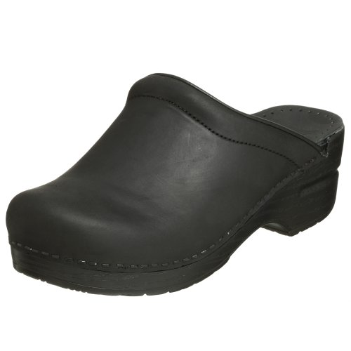Dansko Women's Sonja Oiled Leather Clog,Black,40 EU / 9.5-10 B(M) US (Clogs Leather Heels Black)