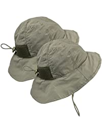 Kids 2pc Pack SPF 50+ UV Protection Breathable Sun Hat