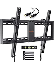 TV Wall Bracket, Tilt TV Mount for Most 32-70 inch LED, LCD, OLED, Plasma Flat&Curved TVs up to 60kg, Max VESA 600x400mm, Bubble Level, HDMI Cable and Cable Ties included