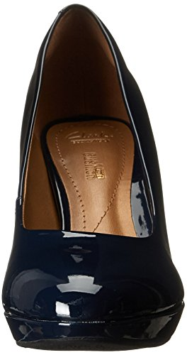 Clarks Women's Brier Dolly Dress Pump, Black Leather, 11 M US Navy