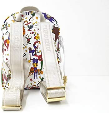 Piero Guidi - Bolso mochila para mujer Blanco blanco/rojo 20,5 X 23 X 12 CM mO0lhUGG