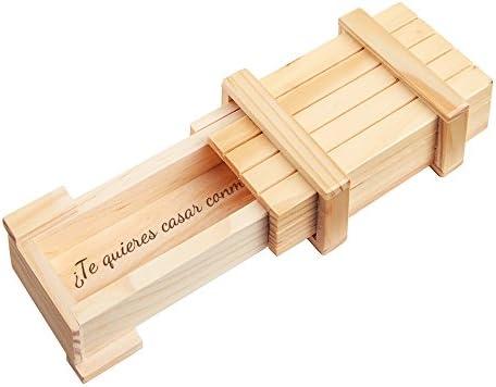 """Casa Vivente – Caja Mágica de Madera Clara – """"¿Quieres casarte ..."""