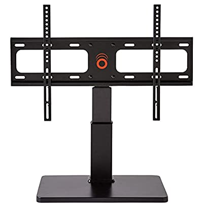 "ECHOGEAR Universal TV Swivel Stand for 32"" to 60"" TVs up to 60 lbs - 75º of Swivel and 4"" of Height Adjust - Improves TV Stability and Safety - EGTV1-BK"