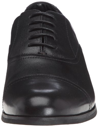 Clarks Brint Cap, Herren Halbschuhe Schwarz (Noir (Black))
