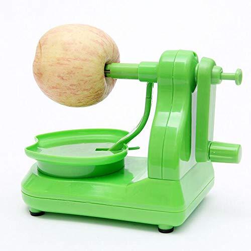 - Fruit Peeler Multi-Function pear Potato Mango Kiwi Peeler Hand Shake Stainless Steel Apple Peeler Corer Set with 8-Blade Apple Slicer, Home Kitchen Portable Belt Green 200×130.8×110.5mm