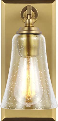Feiss VS24701BBS Monterro Tapered Glass Wall Sconce
