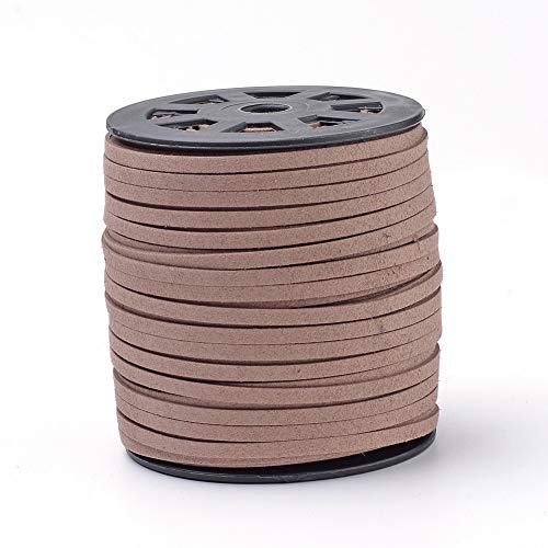 - ARRICRAFT 1 Roll Camel Faux Suede Cords Faux Suede Lace for Jewelry Making, About 100yard/roll