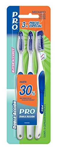 PRO Cepillo Dental Better Reach Mediano, 3 piezas